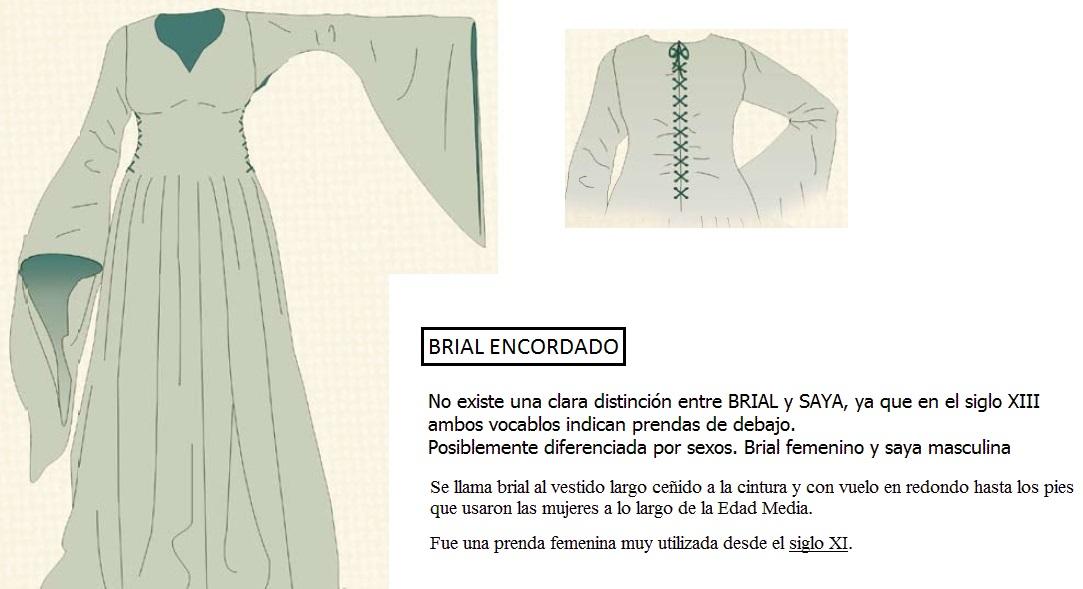 2.3 BRIAL ENCORDADO. ROPA DE DEBAJO DE LAS MUJERES