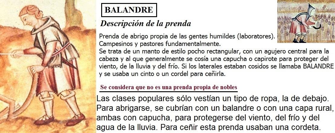 4. ROPA DE SOBRETODO. EL BALANDRE DE LOS PLEBEYOS