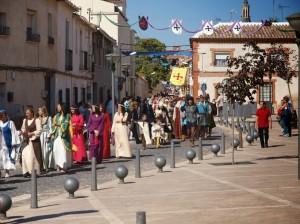Desfile hasta castillo