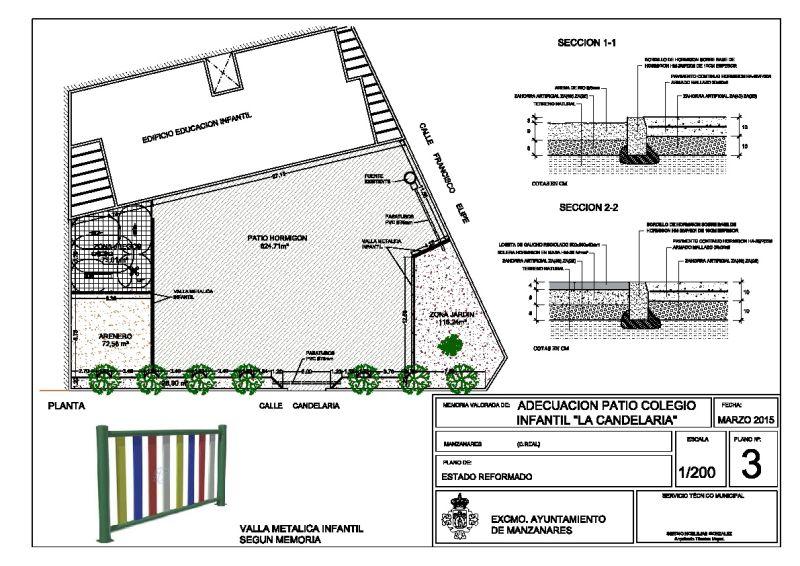 El ayuntamiento mejora el patio de infantil del colegio for Plano escuela infantil