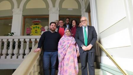 Recepción a representantes del pueblo saharaui en el Ayuntamiento de Manzanares