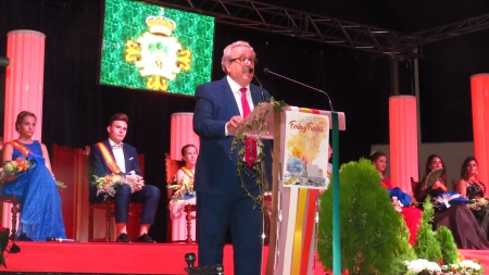 Candi Sevilla durante el pregón
