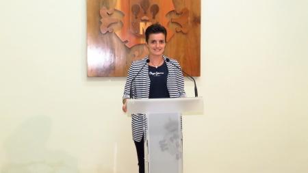 Esther Nieto, en la presentación de los actos de las fiestas patronales