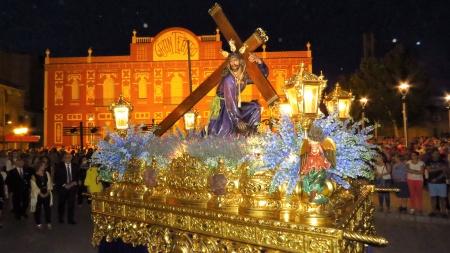 Imagen de Jesús del Perdón durante la procesión extraordinaria del 75 aniversario