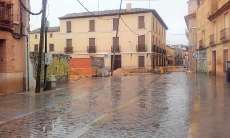 Obras en la plaza de Alfonso XIII y solar en el que se prepara el nuevo parking