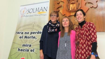 Silvia Cebrián junto a Maribel Díaz-Madroñero y Sara Martín Caro