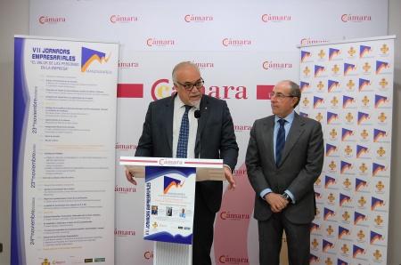 Julián Nieva y Mariano León en la presentación de las Jornadas