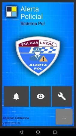 Captura de pantalla de la aplicación de alertas de la Policía Local