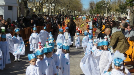 Vista de los participantes del colegio Divina Pastora