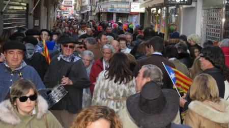 Aspecto de la calle Empedrada en la tarde del domingo de carnaval 2018