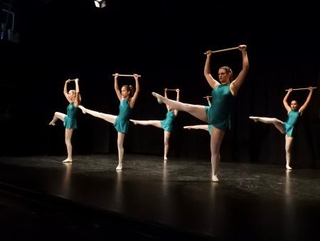 Actuación de las alumnas de danza clásica