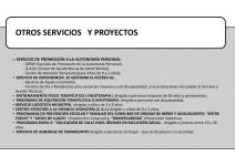 OTROS SERVICIOS Y PROYECTOS