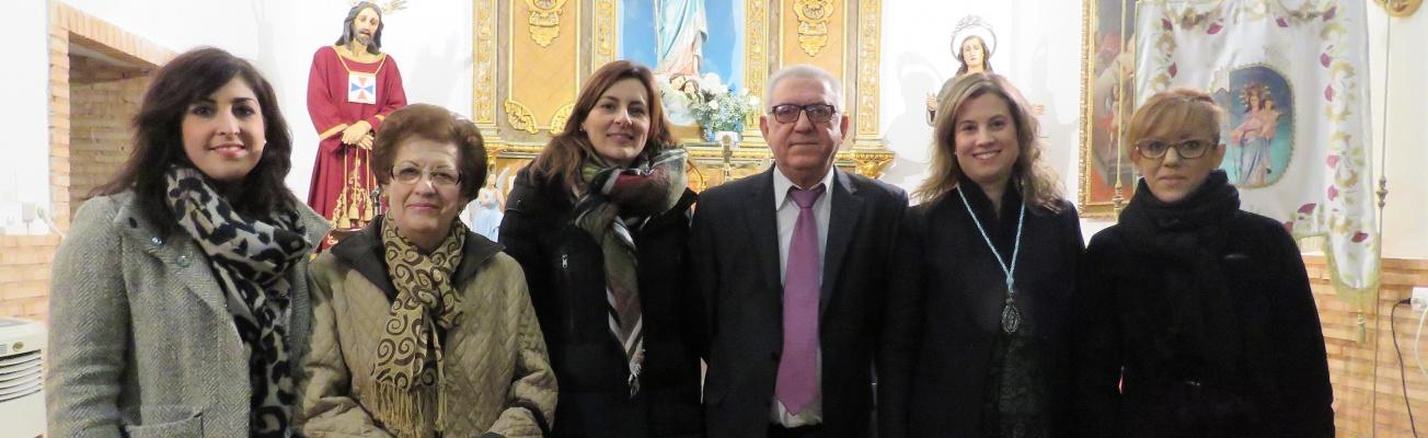 Pregonero, Concejalas, Pregonera 2016 y Hermana Mayor de la Hermandad en el Pregón de las Fiestas Virgen de la Paz