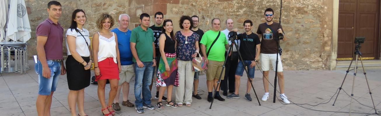 Equipo de grabación del corto junto a Beatriz Labián