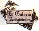 """Imagen: Logotipo CAFÉ LA GALERIA """"Antigüedades"""""""