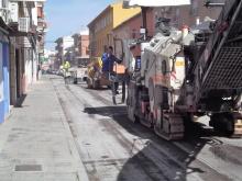 Obras de mejora del pavimento en la calle Carrilejos