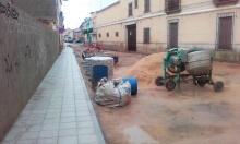 Obras en la calle Blas Tello