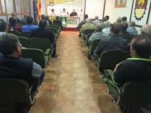 Asistentes a la asamblea informativa de Asaja en Manzanares