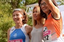 Carmen Domínguez y Carmen Ruiz en el podio