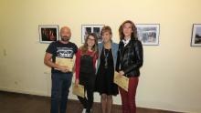Silvia Cebrián con los demás premiados