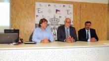 Espinosa, Nieva y Calzado durante la reunión
