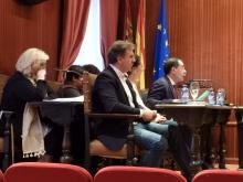 Martín Gaitero durante una de sus intervenciones