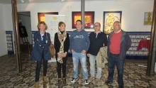 Inauguración de la exposición temporal junto a algunos de los artistas participantes