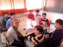 Alumnado de 6º de Altagracia, durante el taller