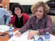Carmen Pimienta y Beatriz Labián en la presentación del encuentro