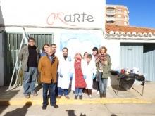 Foto de grupo durante la visita de Labián