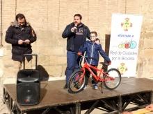 Jaime Pacheco ha sido el ganador del sorteo de la bicicleta infantil