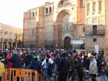 Los participantes se congregaron en la Plaza de la Constitución al finalizar
