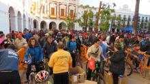 Participantes a la llegada a la Plaza de la Constitución
