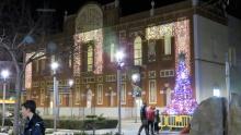 Gran Teatro con el abeto de Navidades Sostenibles