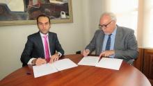 Firma del convenio entre la FBCLM y el Ayuntamiento