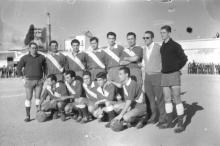 Fotografía de los años 50 del Manzanares CF. Publicada en la web del club