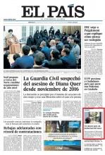 Primera página de El País del 3 de enero de 2018