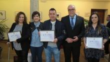 Ganadores del concurso de arte en vino