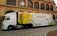 Exterior del Energytruck en su recorrido por España