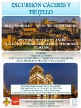 Cartel de la Excursión a Cáceres y Trujillo