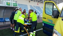 Mamadou fue trasladado en una UVI móvil al finalizar el partido