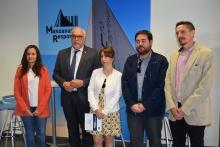 El alcalde asistió a la presentación del programa CapacitaTIC en Manzanares hace unos meses