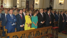 Representantes municipales en la función solemne