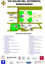 Plano y expositores del 8º Salón del Automóvil