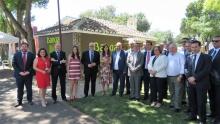 Visita de las autoridades al stand de Bankia en Fercam 2018