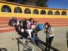 Mañana astronómica para el alumnado manzanareño