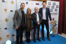 Arancha Salamanca y Manolo Cal junto con los organizadores de ManzanaREC