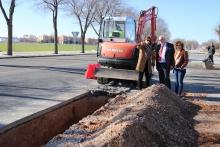 Obras en la red de abastecimiento de agua en Manzanares