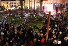 Concierto de Los Secretos en la plaza de Manzanares