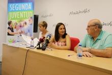 Beatriz Esteban, Prado Zúñiga y Julián Maeso en la presentación del programa